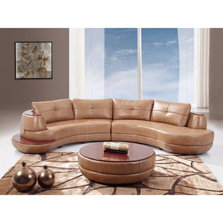 Honey Bonded Leather Sectional