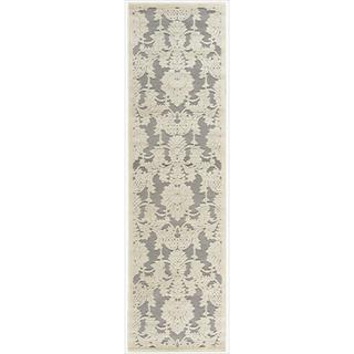 Graphic Illusions Sliver Damask Runner (2'3 x 8')