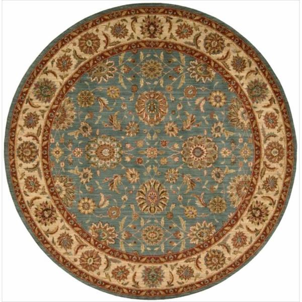Living Treasures Aqua Rug (5'10 Round)