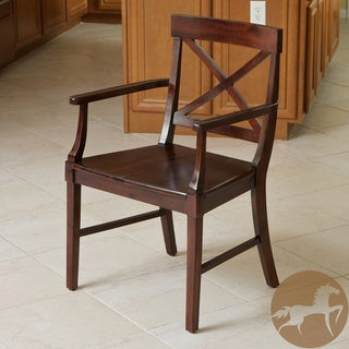 Christopher Knight Home Bella Armed Crossback Acacia Wood Dining Chair