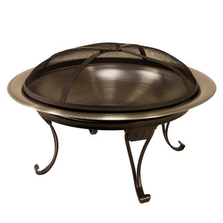 26-inch Hide Away Stainless Steel Fire Bowl