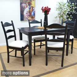 Gwen Antique Black 5-piece Dining Set