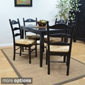 Ella Antique Black and Ivory 5-piece Dining Set