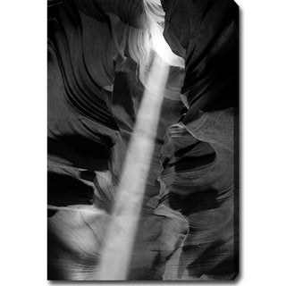 'The Amazing Antelope Canyon' Black and White Canvas Art