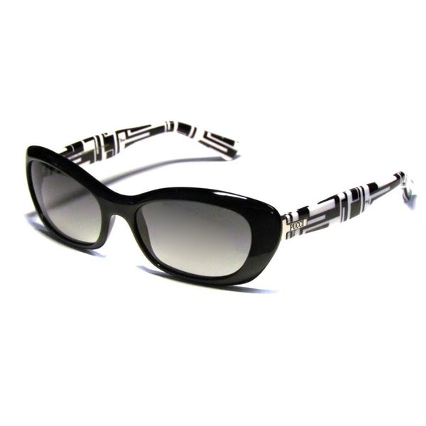 Emilio Pucci Women's 'EP 621' 001 Black Cat Eye Sunglasses