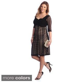 Kiyonna Women's Plus Size 'Burlesque' Lace Overlay Dress Today: $121