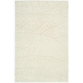 Hand-tufted Escalade Ivory Blend Rug (5' x 7'6)