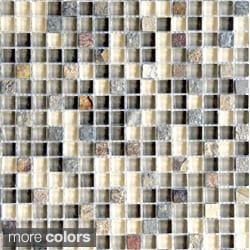 Emrytile Arizona Square 12x12-inch Sheet Wall Tiles (Set of 10)