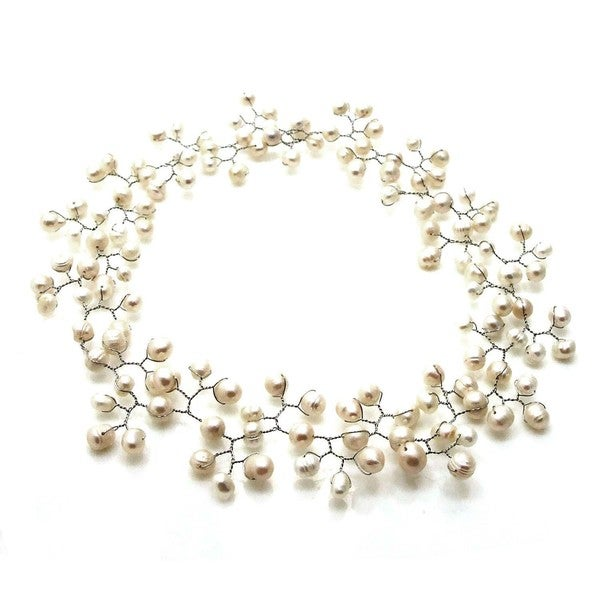 Floating Ray of White Freshwater Pearl Necklace (Philippines)