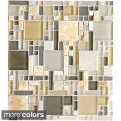 Emrytile Luxe 12x10.35-inch Sheet Wall Tiles (Set of 10)
