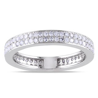 Miadora 14k White Gold 1/2ct TDW Diamond Ring (G-H, SI1-SI2)