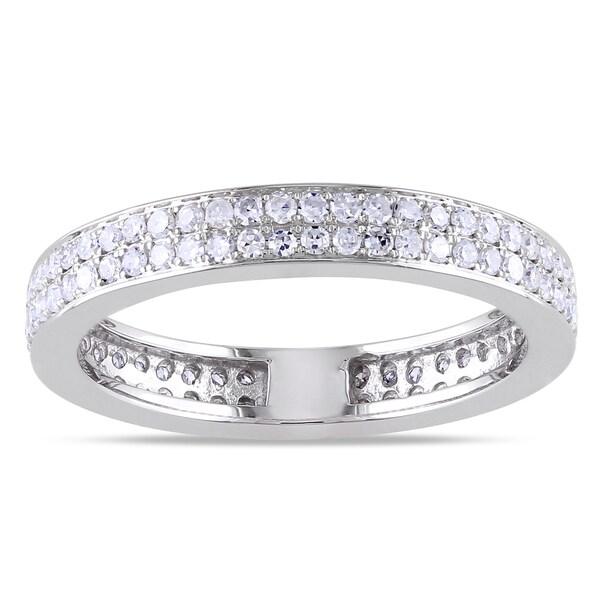 Miadora 14k White Gold 1/2ct TDW Diamond Ring (G-H, SI1-SI2)