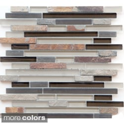 Emrytile Arizona Brick 12x12.8-inch Sheet Wall Tiles (Set of 10)