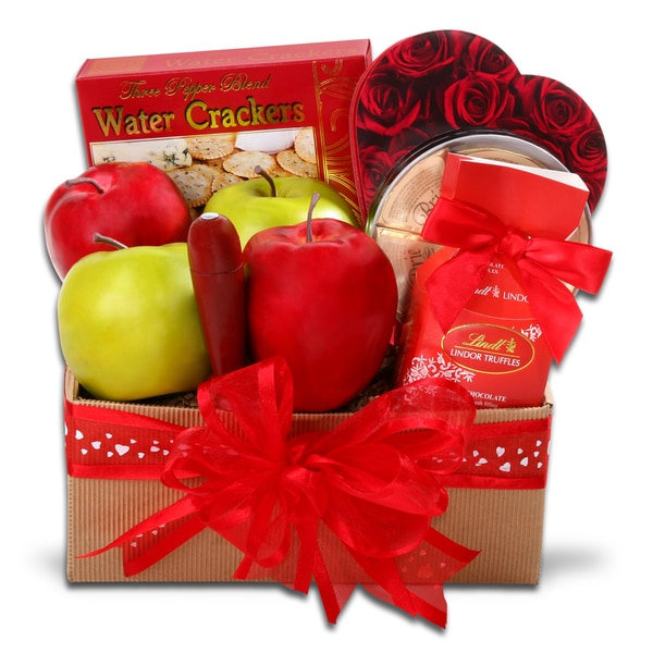 Alder Creek Valentine's Day Fresh Fruit Gift Basket