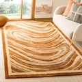 Martha Stewart Marble Swirl October Leaf Red Rug (9'6 x 13'6)
