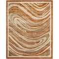 Martha Stewart Marble Swirl October Leaf Red Rug (7'9 x 9'9)