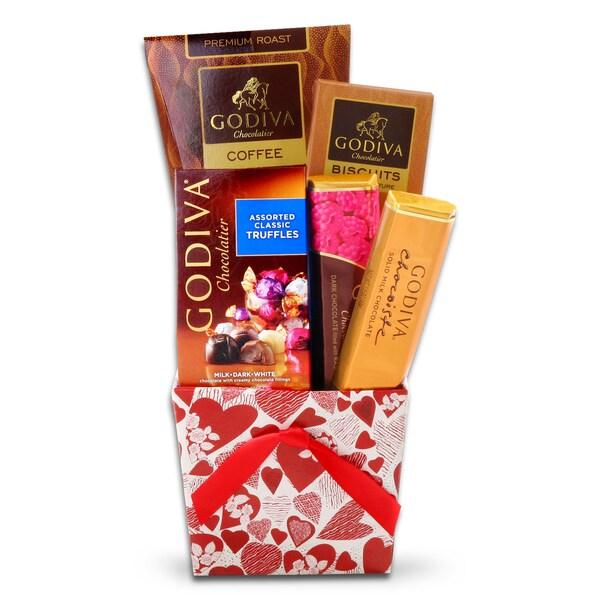 Alder Creek Godiva Valentine's Tote Gift Basket
