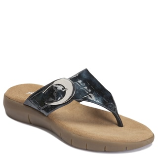 A2 by Aerosoles Women's 'Wipline' Croc-embossed Flip-flops