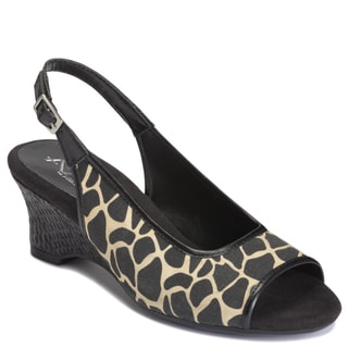 A2 by Aerosoles Women's 'Zentury' Sling-back Sandals in Black and Tan