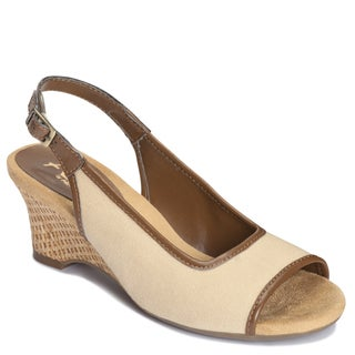 A2 by Aerosoles Women's 'Zentury' Sling-back Sandals in Natural