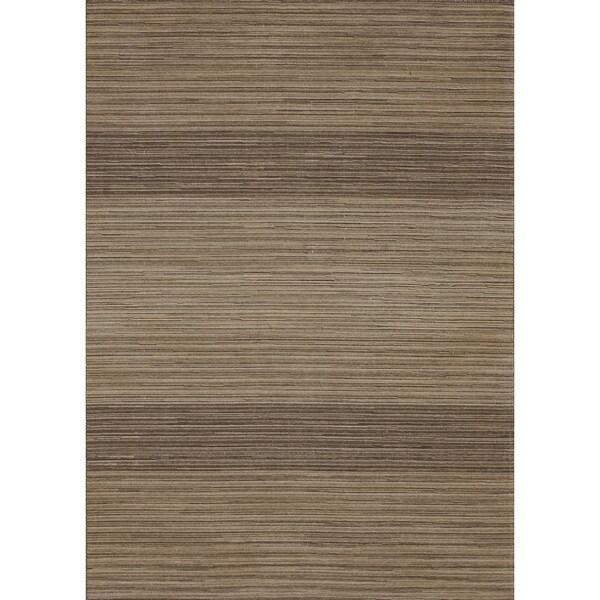 Hand-woven Carter Wool Mocha Rug (3'6 x 5'6)