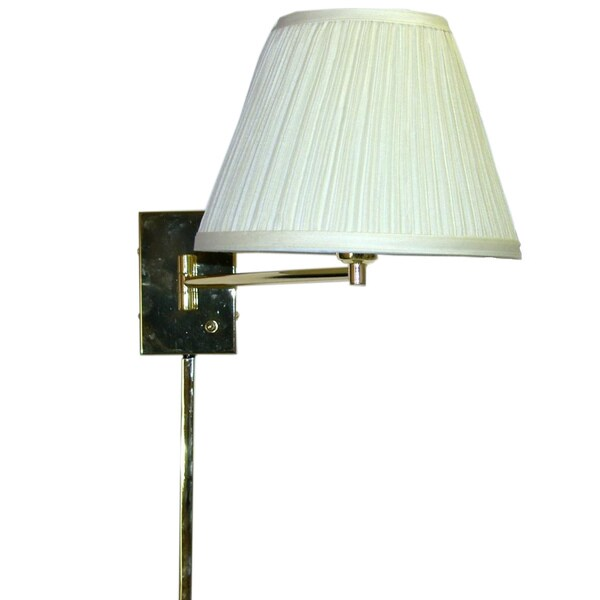Transitional Brass I-light Swing Arm Wall Lamp