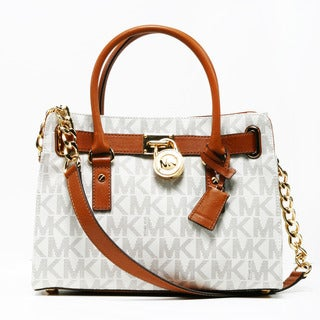 Michael Kors 'Hamilton East/West' Vanilla Logo Satchel