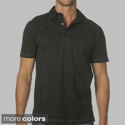 Canvas Men's Short Sleeve 3-button Jersey Polo Shirt