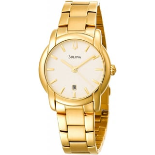 Bulova Men's Gold-plated Stainless Steel Watch
