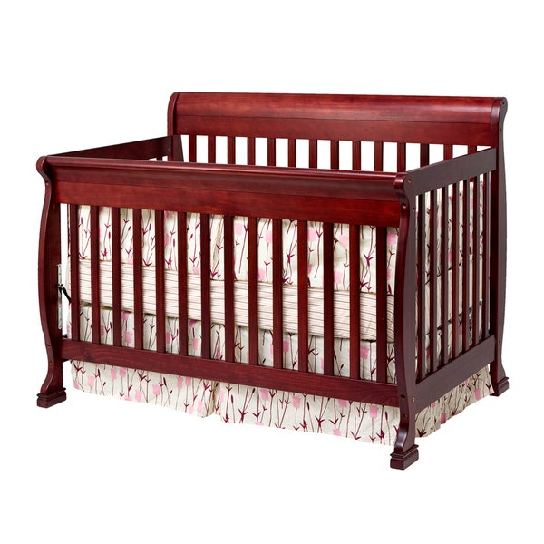 Cadence Cherry 4-in-1 Convertible Crib with Toddler Rail