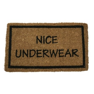 Coir 17x28-inch 'Nice Underwear' Door Mat