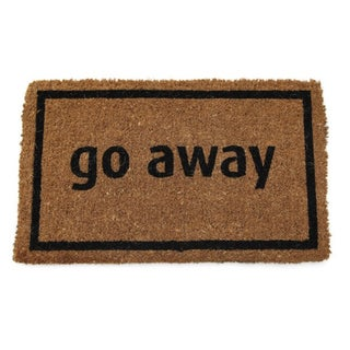 Black Coir 17x28-inch 'Go Away' Door Mat