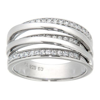 Pearlz Ocean Sterling Silver Cubic Zirconia Fashion Ring
