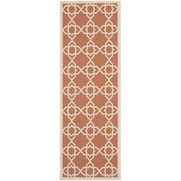 Safavieh Poolside Terracotta/ Beige Indoor Outdoor Rug (2'4 x 6'7)