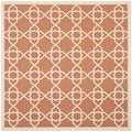 Poolside Terracotta/ Beige Indoor Outdoor Rug (6'7 Square)