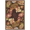 Safavieh Hand-hooked Chelsea Roosters Maroon Wool Rug (1'8 x 2'6)