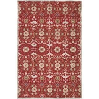 Safavieh Hand-hooked Chelsea Styles Red Wool Rug (3'9 x 5'9)