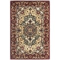 Handmade Persian Legend Red/Ivory Traditional Wool Rug (2'6 x 4')
