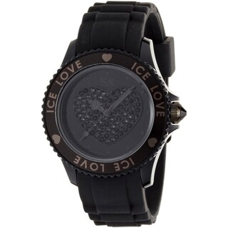 Ice-Watch Women's Crystal-accented Black Dial Watch