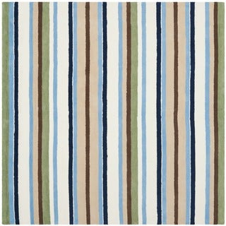 Safavieh Handmade Children's Stripes Cotton Rug (6' Square)