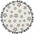 Handmade Children's Stars Ivory New Zealand Wool Rug (6' Round)