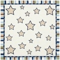 Handmade Children's Stars Ivory New Zealand Wool Rug (6' Square)