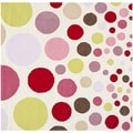Handmade Children's Bubbles Ivory/ Pink Wool Rug (6' Square)