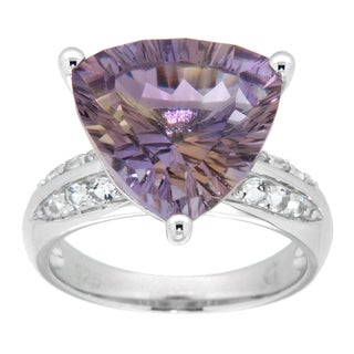Pearlz Ocean Sterling Silver Trillion-cut Blend Ametrine Ring