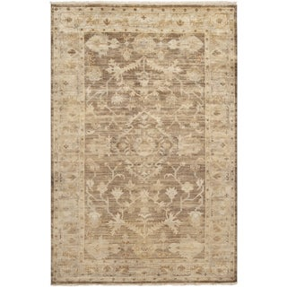 Hand-knotted Tinmouth Brown Wool Rug (9' x 13')