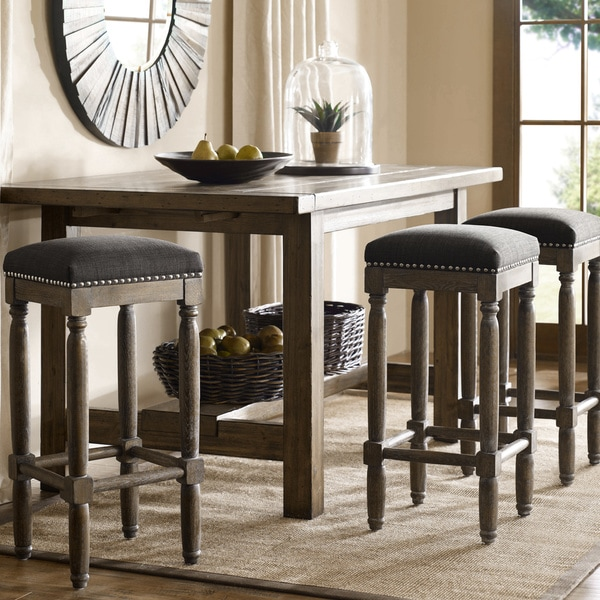 Renate Grey Bar Stools Set Of 2 As Is Item 90007945