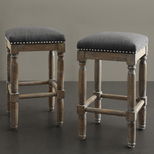 Renate Grey Counter Stools Set Of 2