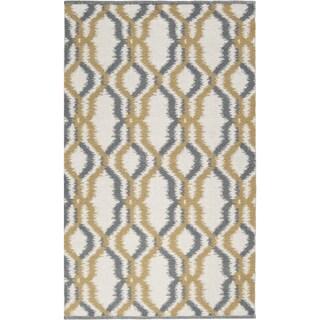 Hand-woven Garrison White Wool Rug (3'3 x 5'3)