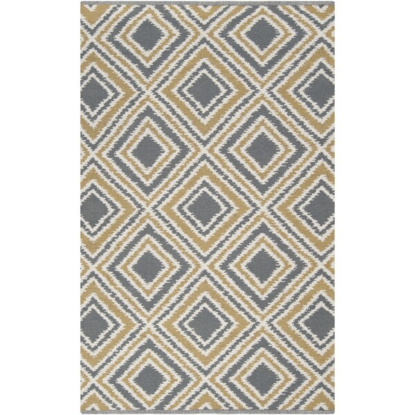 Hand-woven Tioga Gold Wool Rug (3'3 x 5'3)