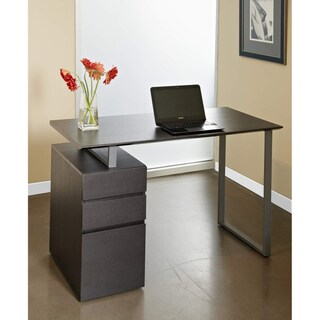 Tribeca Espresso Study Desk With Drawers Overstock